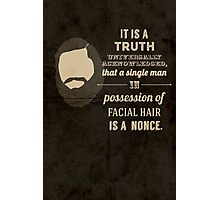A beardy truth Photographic Print