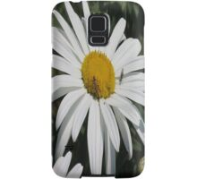 Close Up Common Daisy with Winged Insects Samsung Galaxy Case/Skin
