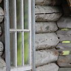 Old log house. Window. by UpNorthPhoto
