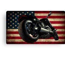 Modern Harley Davidson Fatboy USA Canvas Print