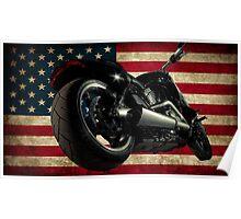Modern Harley Davidson Fatboy USA Poster