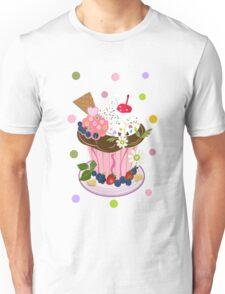 Cute Summer Cupcake Tee with Polkadots Unisex T-Shirt