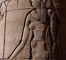 Frieze at Kom Ombo Temple Egypt by Ren Provo