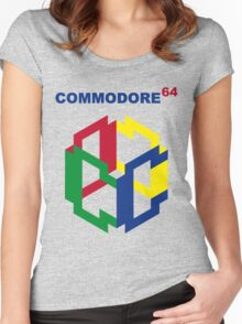 Commodore 64 Nintendo Mashup Women's Fitted Scoop T-Shirt
