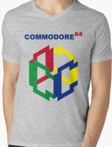 Commodore 64 Nintendo Mashup Mens V-Neck T-Shirt