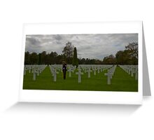 The American Cemetery in Normandy Greeting Card