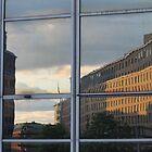 Reflection in skyscraper window. Oslo, Norway. by UpNorthPhoto