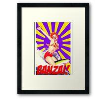 Banzai!! Framed Print