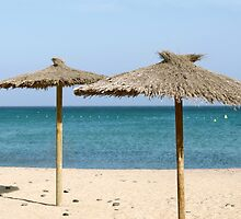 Thatch Beach Umbrellas by Vac1