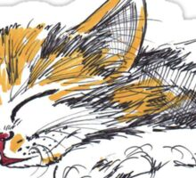 Sleeping Kitten Sticker