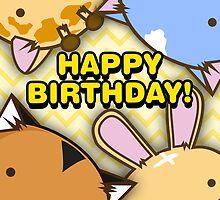 Fuzzballs Group Party Happy Birthday by Fuzzballs