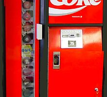 Coca-Cola Coke Cooler Vending Machine iphone Case by miztayk