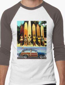 Cool Babes & Hot Rod Men's Baseball ¾ T-Shirt