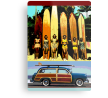Cool Babes & Hot Rod Metal Print
