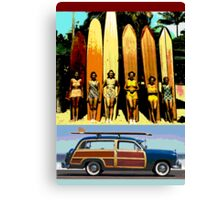 Cool Babes & Hot Rod Canvas Print