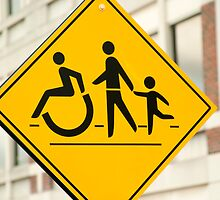 Adult, children and handicap Pedestrian Sign by GysWorks