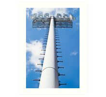 Vertical Stadium Floodlight Tower Art Print