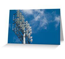 Stadium Floodlights Greeting Card