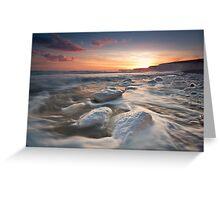Birling gap sunset Greeting Card