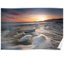 Birling gap sunset Poster