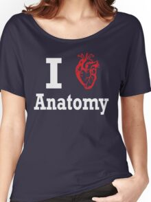 I heart anatomy white Women's Relaxed Fit T-Shirt