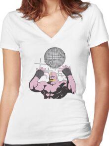 fullmetal alchemist Armstrong Disco Women's Fitted V-Neck T-Shirt