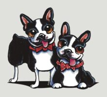 Merry Gentlemen | Boston Terriers T-Shirt