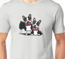 Merry Gentlemen | Boston Terriers Unisex T-Shirt