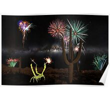 Happy July 4th from the Sonoran Desert of Arizona Poster
