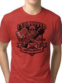 Survival Horror Crest Tri-blend T-Shirt