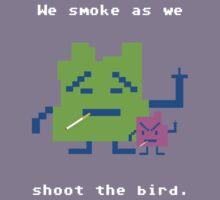 We Smoke As We Shoot The Bird by Diginoms