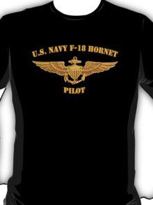 Navy F-18 Pilot (T-Shirt) T-Shirt
