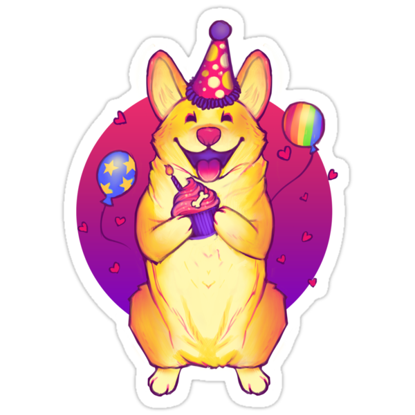Birthday Corgi! by MeganLara