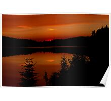 Sunset on Brewer Lake, Algonquin Park Poster
