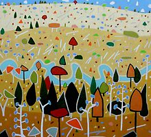 Whimsical Landscape 4. by Richard Klekociuk