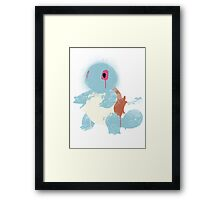 Graffiti Squirtle Framed Print