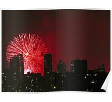 Independence Day fireworks in New York City Poster