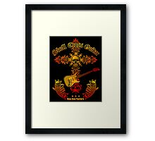 Skull cross guitar Framed Print
