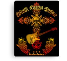 Skull cross guitar Canvas Print