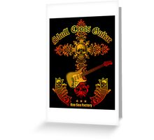 Skull cross guitar Greeting Card