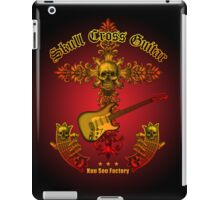 Skull cross guitar iPad Case/Skin