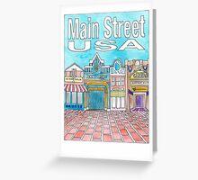 Main Street USA Greeting Card