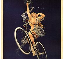 Vintage Bicycle Poster Parody - Menstrual Cycles by Chunga