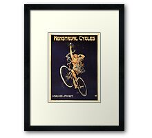 Vintage Bicycle Poster Parody - Menstrual Cycles Framed Print