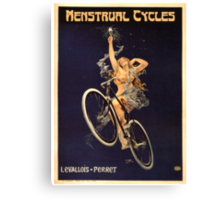 Vintage Bicycle Poster Parody - Menstrual Cycles Canvas Print
