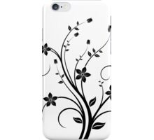B&W flower scroll iPhone Case/Skin