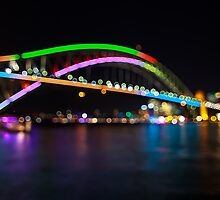 Harbour Bridge in Colourfull Circles by Andi Surjanto