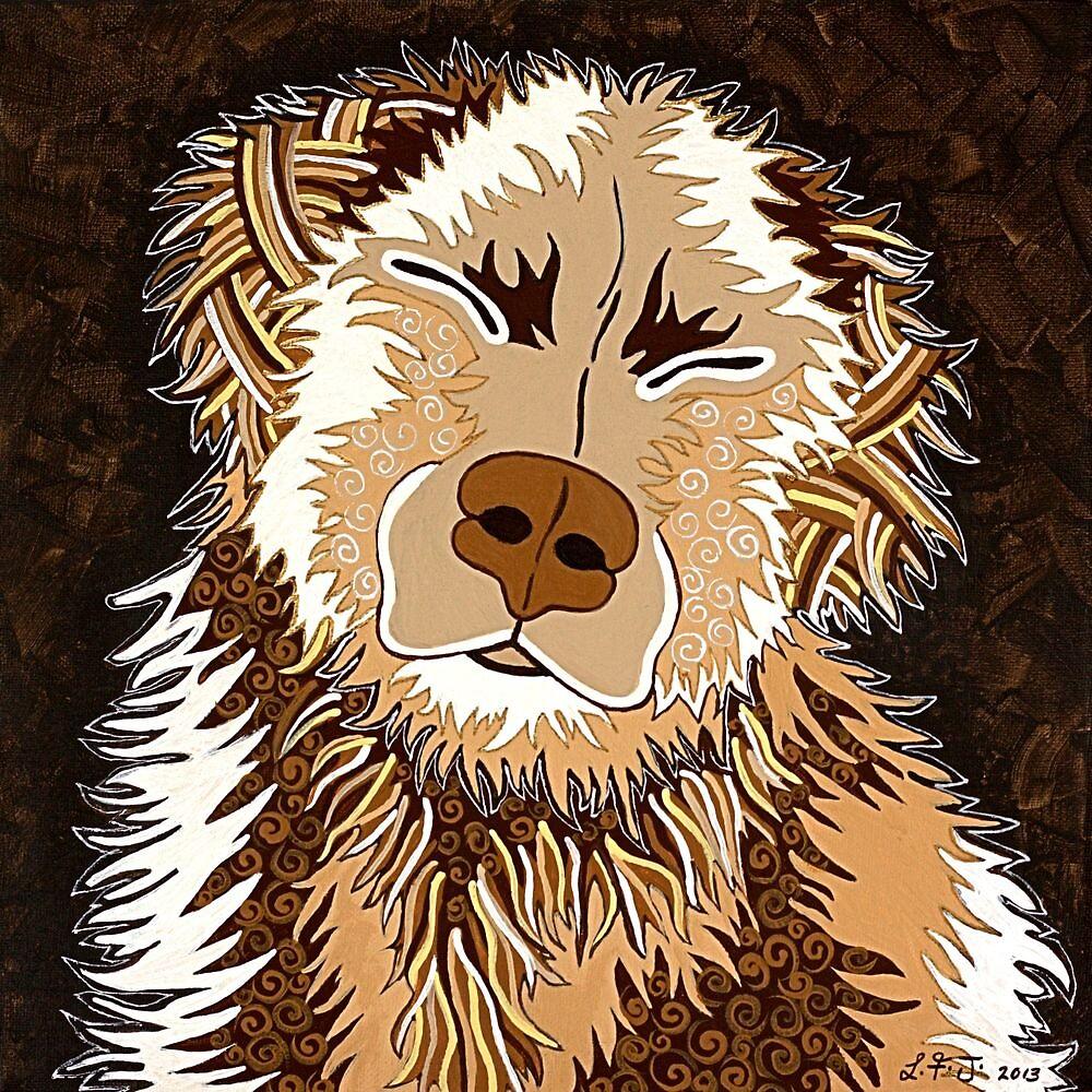 SEPIA DOG by Lisa Frances Judd~QuirkyHappyArt