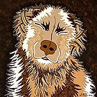 SEPIA DOG by Lisa Frances Judd ~ QuirkyHappyArt