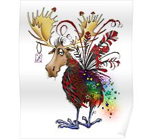 Lesser Spotted Spangle Moose Poster